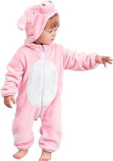 MICHLEY Bebé Ropa Niños Niñas Pijama Disfraces Primavera Franela Traje Animales Pelele