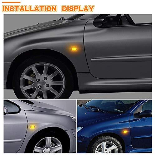 2pcs Led Dynamic Turn Signal Side Marker Light Sequential Blinker Light For Peugeot 307 206 207 407 107 607 For Citroen C1 C2 C3
