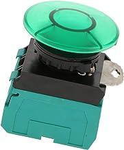 Electric Harmony E-Stop 20mm Mushroom Head LA22E-11M 10A 37V-440V IP65 - Green - 2NO