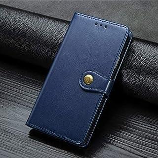 جرابات ODIN-Flip - جراب قلاب خلفي لهاتف Galaxy J2 Grand Business Card Wallet Leather Case for G532 G530H (Blue Grand (G530))
