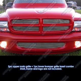 APS Compatible with 1997-2004 Dodge Dakota 1998-2003 Durango Billet Grille Grill Insert Combo D81220A