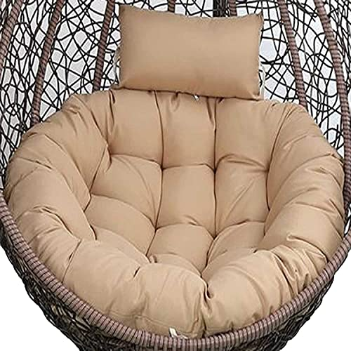 Cuscini per sedie Cuscino per sedie di uova, cuscino per esterni Sostituzione per impiccatura sedia uovo Swing, addensare Ambito rotondo Amaca Amaca Amaca Solo cuscino, lavabile PAPASAN Cuscini per se