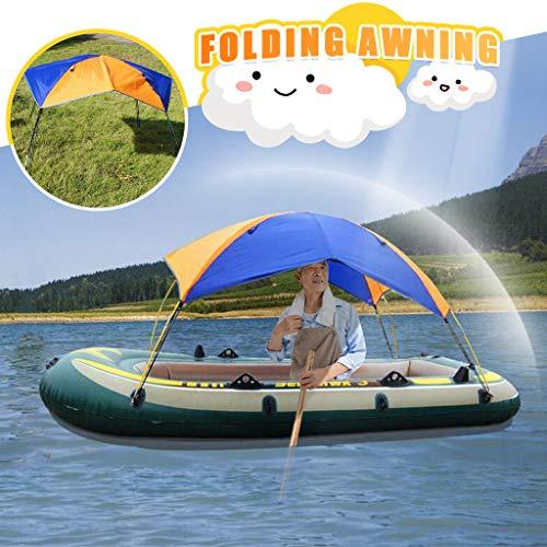 Dasongff Sonnenschutz Shelter Kit Zelt Faltbare Baldachin für Schlauchboot und Camping 2-4 Personen Tragbares Boot Zelt Sonnenschutz Canopy Markise Tragbare Bootsabdeckung Kajak