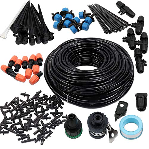 Hiveseen 45M Micro Drip Irrigation System Kit with Adjustable Nozzle...