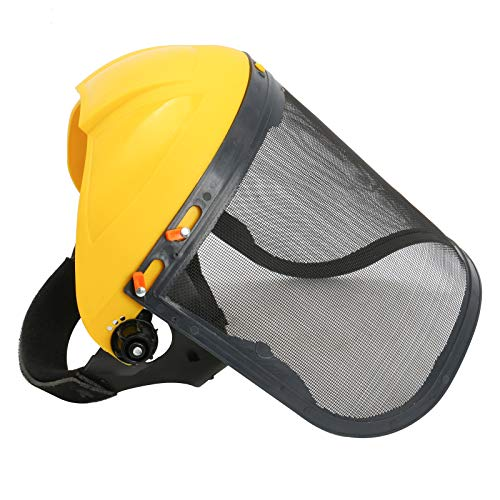 Finderomend Safety Face Shield Helment Full Face Shield Protection with Mesh Visor for Chainsaw Trimmer Pole Pruner Gardening Logging