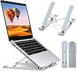 TEUMI Support pour ordinateur portable réglable en hauteur 9 niveaux, support ergonomique portable en aluminium pour ordinateur portable Compatible avec MacBook Pro Air, ordinateur portable, Lenovo, Dell et appareil 10-15,6 pouces