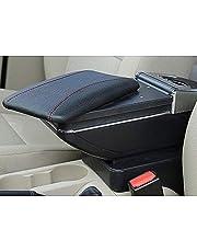Do Mazda 2 2015-2018 konsola samochodowa podłokietnik schowek akcesoria z uchwytem na kubek i zdejmowaną Ashtra czarny z czerwoną linią
