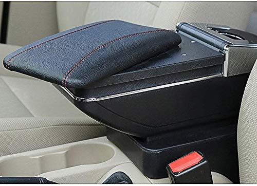 Für Renault Clio 2 2014-2018 Armlehnebox Mittelkonsole mit Aufbewahrungsbox Mittelarmlehne Schwarz mit roter Linie