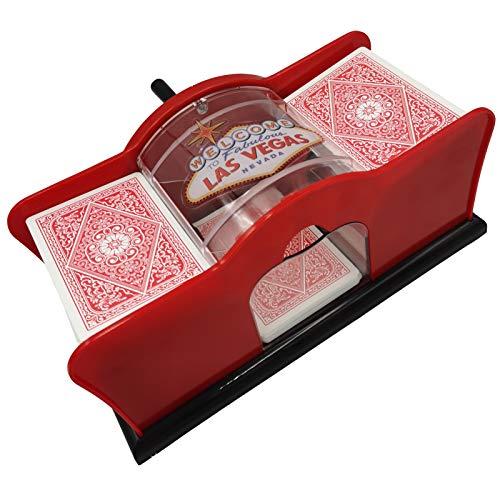 Yuanhe Casino 2-Deck Hand Manual Card Shuffler (red)