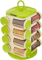 Amazon Brand - Solimo Revolving Spice Rack set (16 pieces)