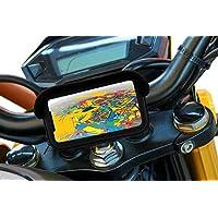 """Soporte movil para Moto con Cargador 2.1A Carga rapida Funda Protectora Visera antireflejos Valida para Smartphones hasta 7"""" Soporte Moto movil sujecion al Manillar irrompible"""