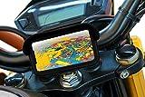 Soporte movil para Moto con Cargador 2.1A Carga rapida Funda Protectora Visera antireflejos Valida para Smartphones hasta 7' Soporte Moto movil sujecion al Manillar irrompible