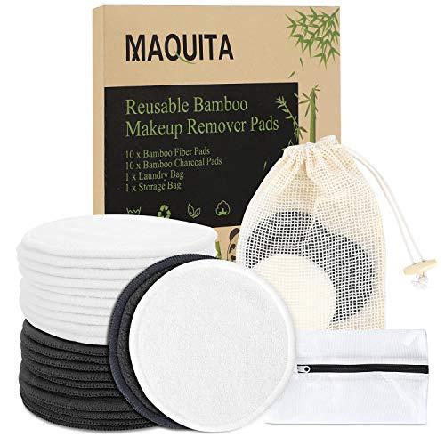 (Kupon DISKON 40%) 20 pcs Bantalan Bambu Makeup Remover Reusable $ 5,99