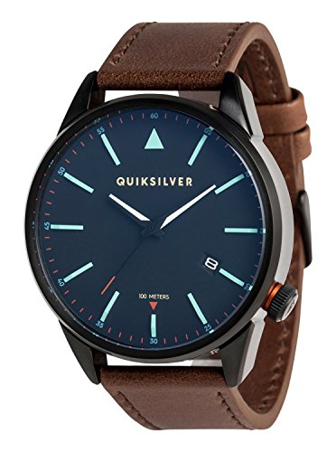 Quiksilver The Timebox Leather - Analogue Watch for Men - Analoge Uhr - Männer
