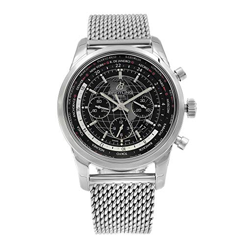 Breitling Transocean Chronograph Unitime Black Dial Watch AB0510U4/BE84-152A