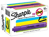 Sharpie 25019 Tank Style Highlighters, Chisel Tip, Lavender, Box of 12