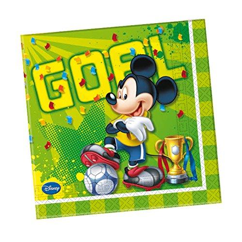 Party Discount Nouveau. Serviettes Mickey Goal, 33 x 33 cm, 20 Pcs.