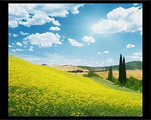 Fotobehang 3D muurbehang landelijk idyllisch landschap moderne mooie behang tv achtergrond muur mode behang muur 3 D behang woonkamer