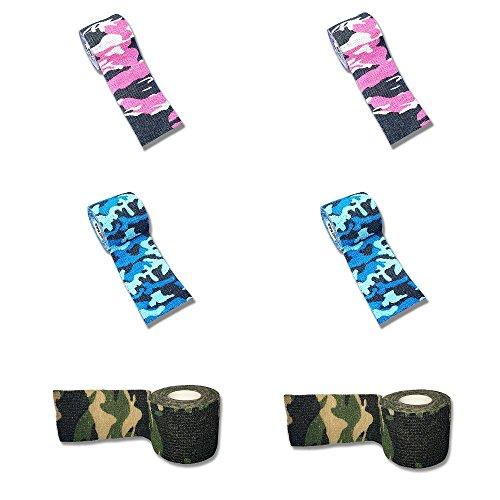 LisaCare Plaster Bandage Set - 6 Stück á 5cm breite - Sportverband Fixierband Handgelenk Fußgelenk Camouflage selbsthaftend