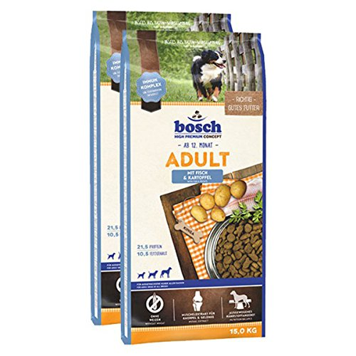 Bosch Hundefutter Verschiedene Sorten 2x15kg Fisch & Kartoffel