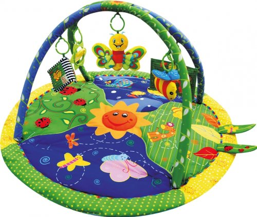 Sun Baby Tapis pm90106 – Papillon avec annexes et miroir multicolore