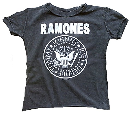 Amplified Kinder Kids Jungen Mädchen Boy Girl T-Shirt Stonewash Grau Gray Official The Ramones Merchandise Hey Ho Let's Go You Rock Star Vintage Nähte Aussen VIP Wow 4-5 Years