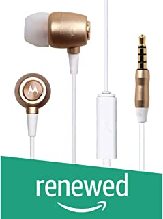 (Renewed) Motorola Metal Headphones (Gold)