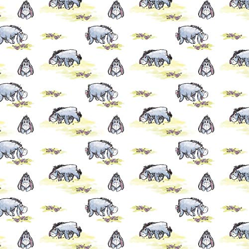 Disney Winnie The Pooh Classic Collection Gloomy Eeyore Premium Quality 100% Cotton Fabric by The Yard.