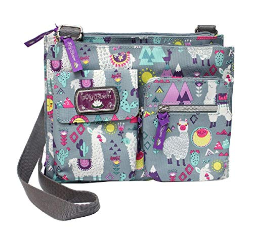 Lily Bloom Regina Crossbody Bag, Fruit Loop Birds (Llama Mama)