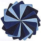 Bügelflicken Flicken Zum Aufbügeln 18 Stück 3 Farben Denim Baumwolle Patches Bügeleisen Reparatursatz, Aufbügelflicken Bügelflicken, Dekoration für Jeans Kleidung