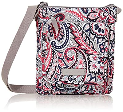 Vera Bradley Signature Cotton Mini Hipster Crossbody Purse with RFID Protection, Gramercy Paisley