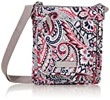 Vera Bradley Women's With Protection Vera Bradley Women s Signature Cotton RFID Mini Hipster Crossbody Purse Gramercy Paisley One Size, Gramercy Paisley, One Size US
