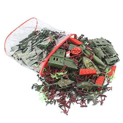 Baoblaze Figure dell'Esercito di Azione Militare dei Soldatini Giocattolo di Plastica 519X