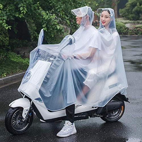 ZXL Regenjas, lichte multifunctionele regenjas van PVC-kunststof, voor fietskleding voor mannen en vrouwen, transparante regenjas, regenkleding met Siamese capuchon/elektro-