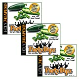 NEW ITEM: 3-Pak PartyDipz Holy Jalapeno Gourmet Dip Mix Packets Dips For Chips Dips For Sp...