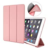 zoyu Case for ipad air 1st Edition (NOT for ipad air 2/3), Ultra Slim Leightweight Smart PU Leather Flexible Soft TPU Auto Wake/Sleep Smart Cover for ipad Air 1 Model A1474/A1475/A1476,Rose Gold