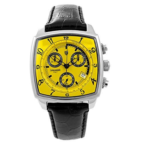 Lancaster Damen Chronograph Quarz Uhr mit Leder Armband 0262GSS