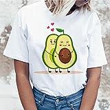 A-HXTM Camisetas Impresas Kawaii Dibujos Animados Casual Camiseta De Mujer Gráficos Aguacate Aguacate Camisa De Manga Corta Aplicar A Diario Usar Ejercicio Corriendo Etc-18751_XL