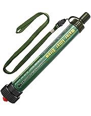 Persoonlijke Waterfilter Outdoor 2000L Mini Draagbare Camping Waterbehandeling Verwijdert Bacteriën en Protozoa, Water Filter voor Wandelen, Kamperen, Reizen, Overleven en Noodgevallen (groen)