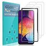 TAURI Protection écran pour Samsung Galaxy A50 / M30 [3 Pièces] [2.5D] [9H Dureté] [Cadre d'alignement Installation Facile]...