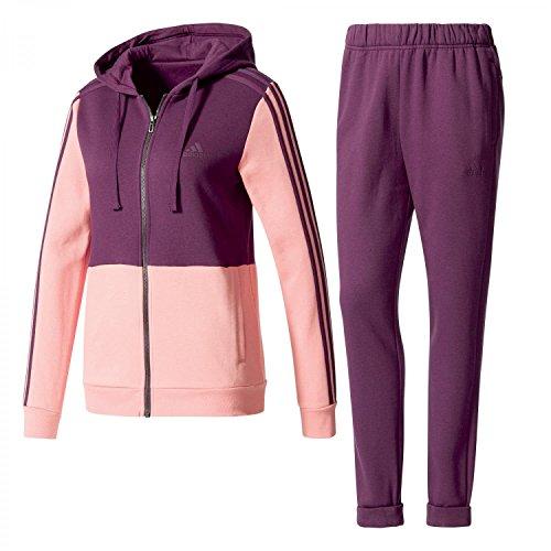 adidas Damen Trainingsanzug Cotton Energize Tracksuit red night f17/tactile rose f17 XS