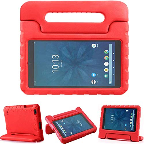 """Golden Sheeps Kid Friendly Case Compatible for Walmart onn. 8"""" Tablet 2020 (Model: 100011885) / 2019 (Model ONA19TB002) Shockproof Ultra Light Weight Convertible Handle Stand Cover (red)"""