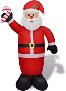 vidaXL Papa Noel Inflable 240 cm Luces LED Tela Plastico Santa Claus Hinchable