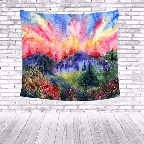 Djkaa Boerenhuis huis dorm decoratie landschap bos decoratieve strand hanger wandbehang plafond handdoek schilderachtig tapijt bedrukken wandtapijt 150 x 130 cm.