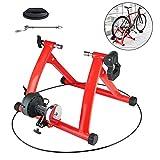 Zhyaj Rodillo Entrenamiento Bicicleta Montaña Portátil Entrenador Bicicleta De Ejercicio Interior para 26-28 Pulgadas Rueda,Rojo