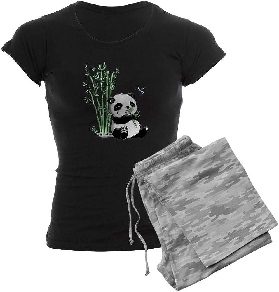 ランキング総合1位 CafePress Panda Eating Bamboo おすすめ Women's Dark PJs