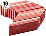 Cedar Space Cedar Blocks for Closet Storage, 100% Nature Aromatic Red Ceder Blocks Cedar Planks 16 Pcs