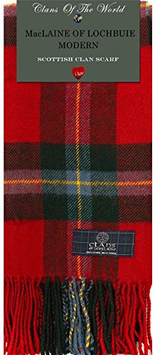 I Luv Ltd MacLaine of Lochbuie Modern Tartan Clan Scarf 100% Soft Lambswool