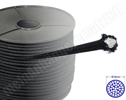 Expanderseil Gummiseil Planenseil Spannseil für Pkw Anhänger schwarz 8mm