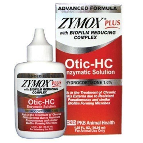 ZYMOX Plus OTIC-HC 1.25 fl. oz Hydrocortisone 1.0% Dog Cat Ear Otitis Treatment